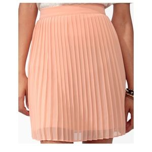 Forever 21 pleated skirt - peach